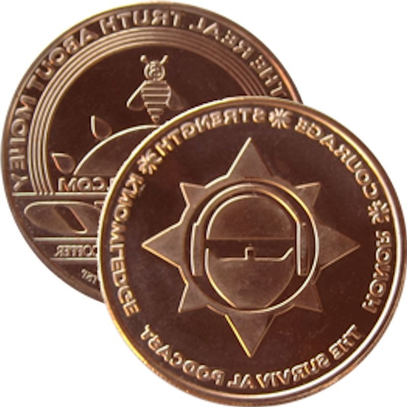 The Survival Podcast (AOCS) (2011) 1 oz .999 Pure Copper Round
