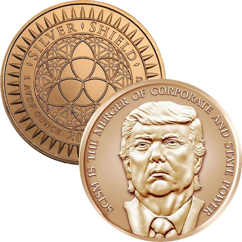 Trump Fascism #18 (2017 Silver Shield Mini Mintage) 1 oz .999 Pure Copper Round