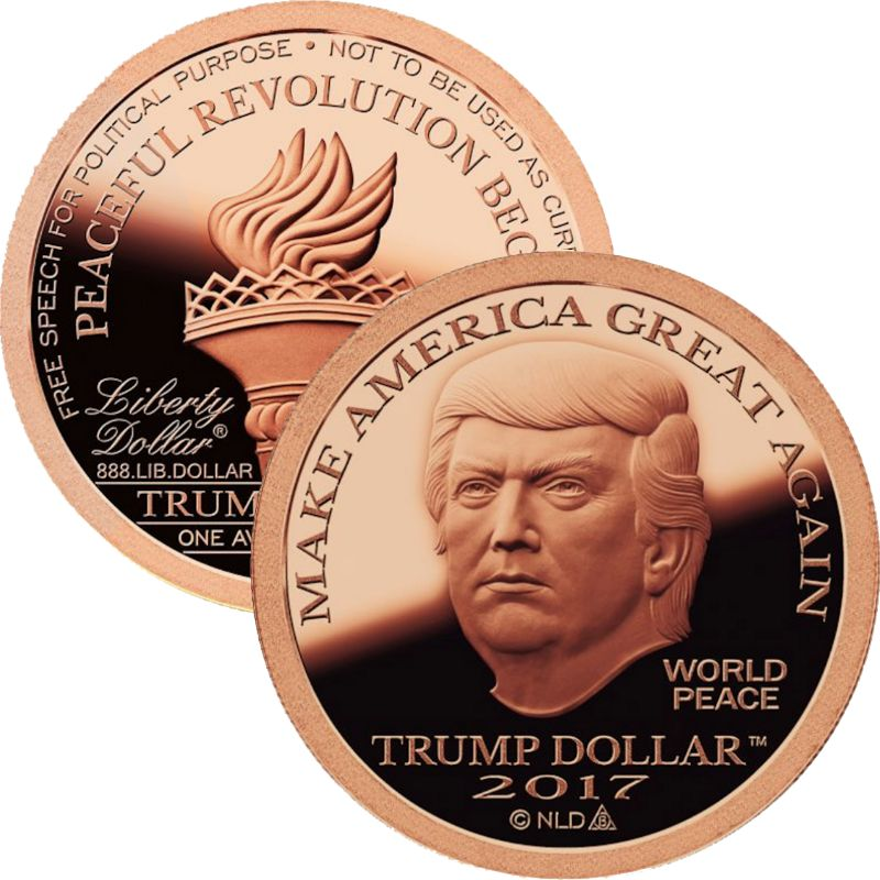 2017 Trump  Make America Great Again 1 oz .999 Pure Copper Round