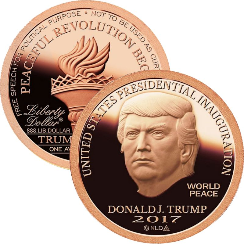 2017 Trump Presidential Inauguration 1 oz .999 Pure Copper Round