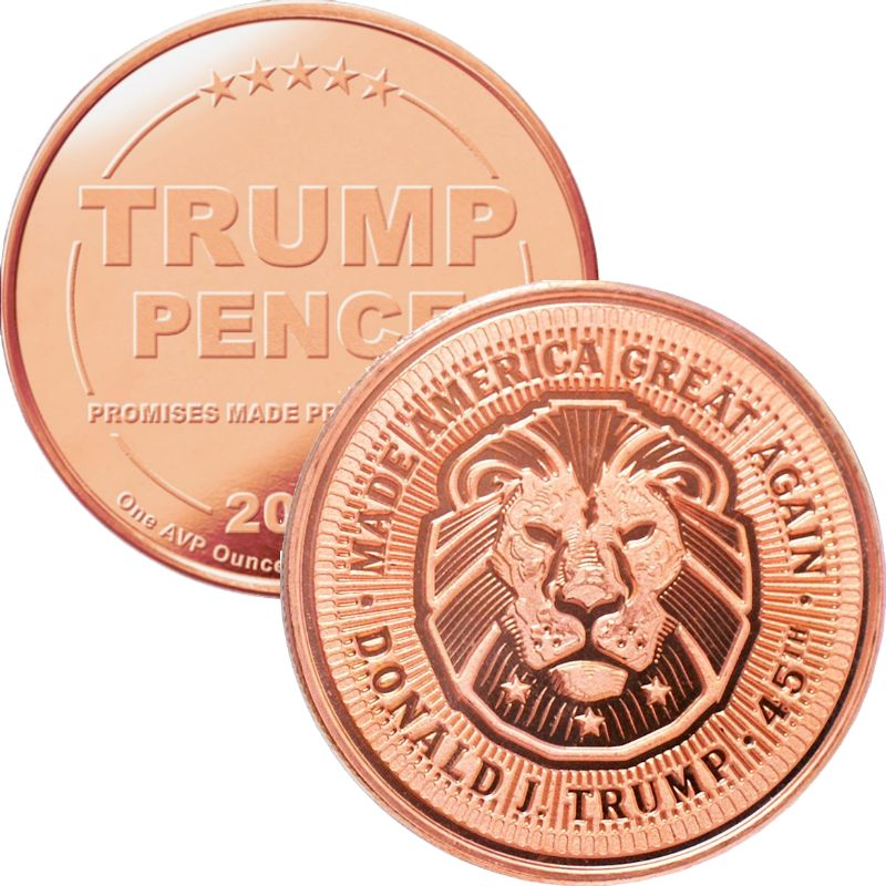 Trump ~ Lion 1 oz .999 Pure Copper Round