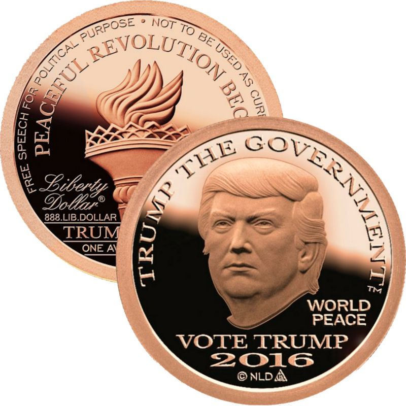 2016 Trump The Government 1 oz .999 Pure Copper Round