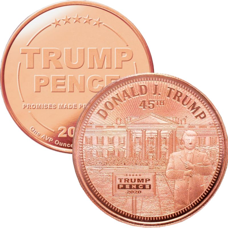 Trump ~ The White House 1 oz .999 Pure Copper Round