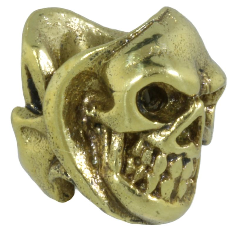 Two Face Skull in Brass by Covenant Everyday Gear