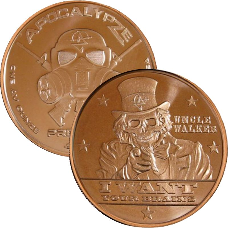 Uncle Walker 1 oz .999 Pure Copper Round (7th Design of the ApocalypZe Series)