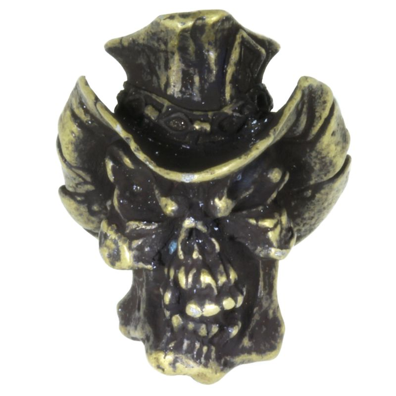 Vinnie Garoon Cowboy Bead in Roman Brass Oxide Finish by Schmuckatelli Co.