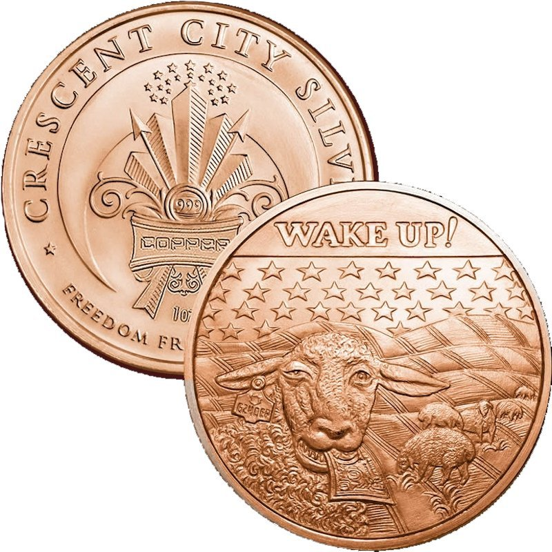 Wake Up! 1 oz .999 Pure Copper Round (2014 - 2015)