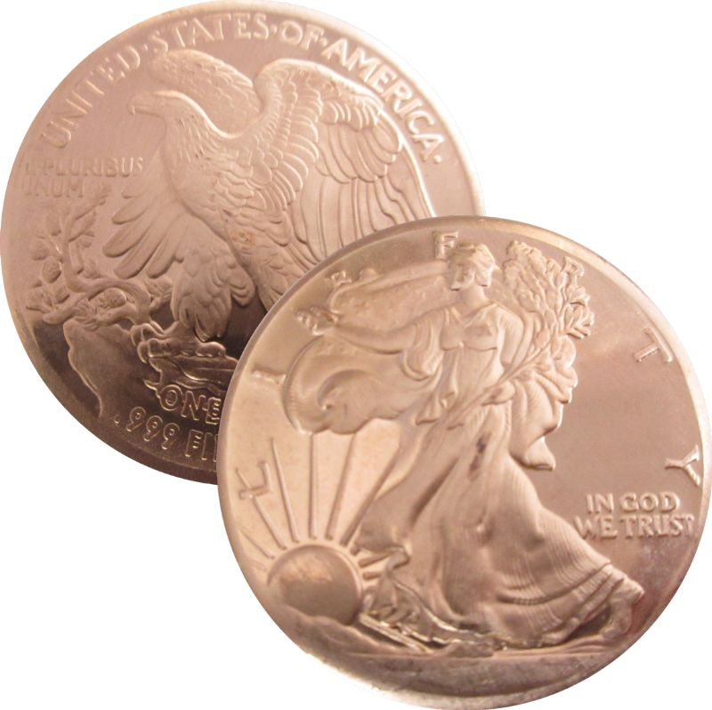 Walking Liberty Design (Private Mint) 1oz .999 1 oz .999 Pure Copper Round