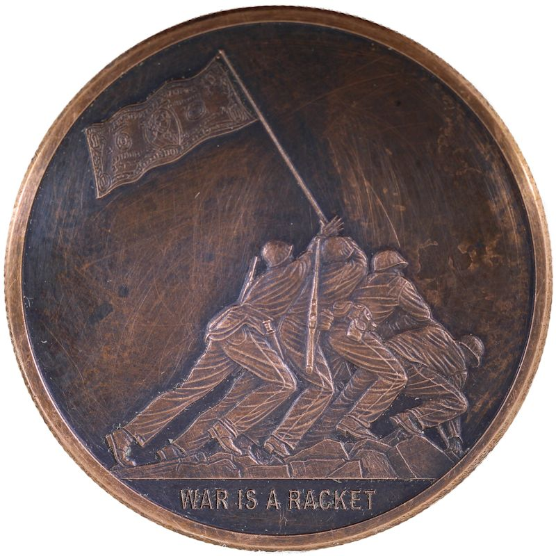 War Is A Racket #50 (2018 Silver Shield Mini Mintage) 1 oz .999 Pure Copper Round (Black Patina)