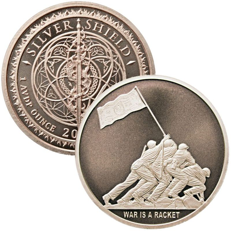 War Is A Racket #50 (2018 Silver Shield - Mini Mintage) 1 oz .999 Pure Copper Round