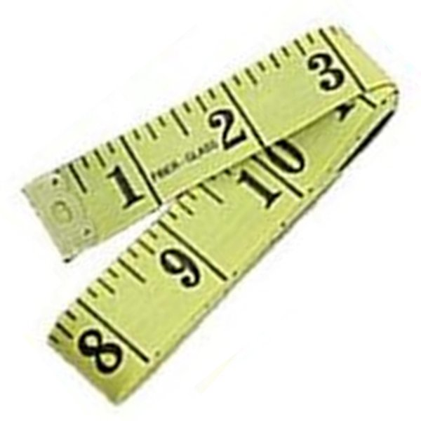 "60"" Soft Flexible Non-Stretching Measuring Tape Ruler (Yellow/Black)"