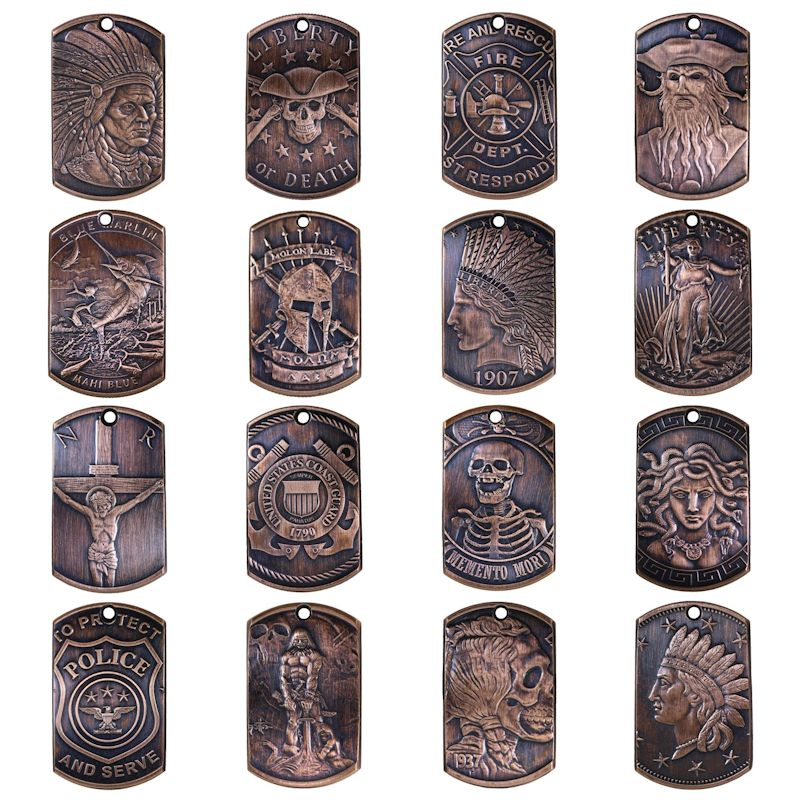Copper Dog Tags