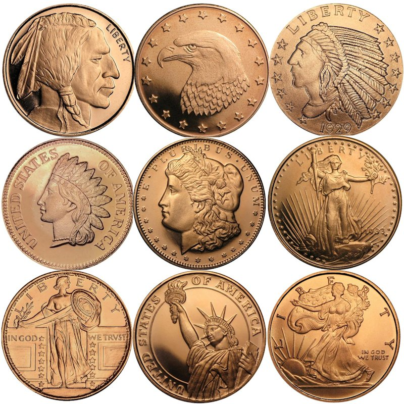 1/2 oz. Copper Rounds