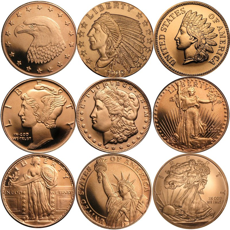 1/4 oz. Copper Rounds